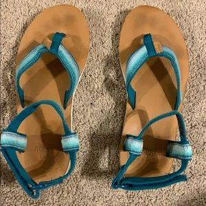 Blue and White Teva's, Women's Size 9